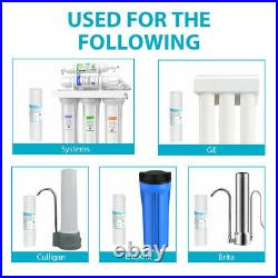 50PK 10 x2.5 Grooved Sediment Water Filter Whole House RO 50/30/5/1/0.5 Micron