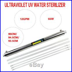 55W whole house 12 GPM Ultraviolet Filter UV Water Sterilizer Purifier 110V
