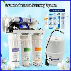 5Stage Drinking Water System Whole House Water Purifier 50GPD RO membrane filter