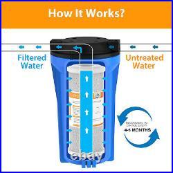 5 Micron 10x4.5 Big Blue Carbon Block Water Filter Cartridges Whole House -16P