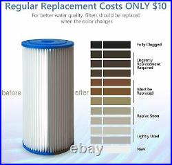 5 Micron 10x4.5 Whole House Big Blue Sediment Pleated Water Filter 4-16PCS