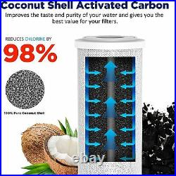 5 Micron 20x4.5 CTO Carbon Block Water Filter Whole House for Big Blue Housing