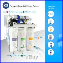 5 Stage Reverse Osmosis Drinking Water System RO Purifier with FILTERS WHOLE HOUSE