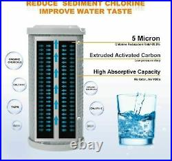 5m 20x4.5 Sediment GAC Carbon Block Water Filter Whole House Replacement Set