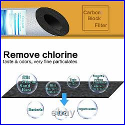 6 Pack Big Blue PP Sediment and Carbon Block Replacement Water Filter 20 x 4.5
