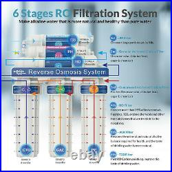 6 Stage Reverse Osmosis System RO Tank Drinking Water for Whole house & RO T2
