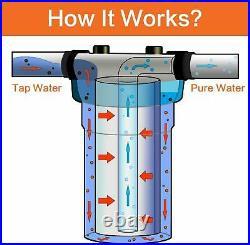 8 PACK 5m 20x4.5 CTO Carbon Block Sediment Water Filter Purifier Cartridges