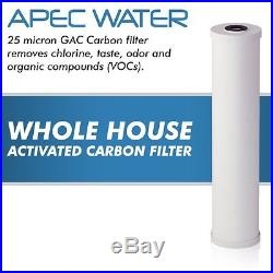 APEC 20 Big Blue Whole House Water Filtration System With Carbon Filter