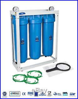 AQUAFILTER 20 Big Blue BB 3-Stage Whole House Water Filter System Housing