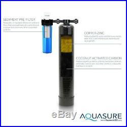 AQUASURE Elite Whole House Water Treatment System 64,000 Grain Water Softener