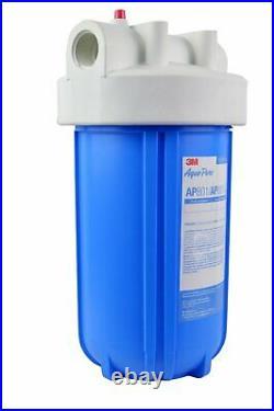 AquaPure AP801 Whole House Blue/White Water Filter Housing 1 NPT
