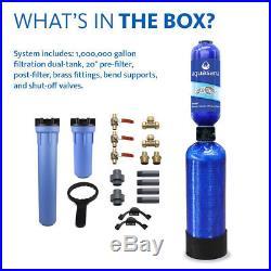 Aquasana 10-Year 1000000 Gallon Whole House Water Filter withPro Grade Install Kit