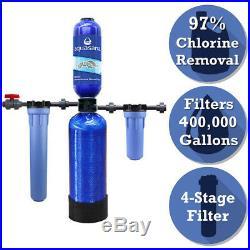 Aquasana EQ-400 Chloramine Whole House Water Filter + Professional Install Kit