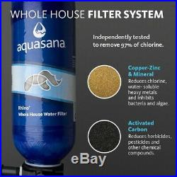 Aquasana Whole House Water Filter 300,000 Gal. 5-Stage Dual Tank Threaded Blue