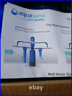 Aquasana Whole House Water Filter Pro Install Kit AS-IS (look at pics)