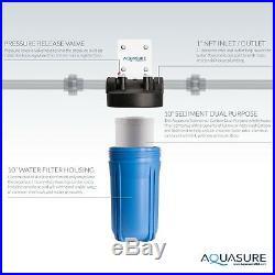 Aquasure Sediment/GAC High Capacity Dual Purpose Whole House Water Filter 10