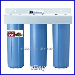 BIG BLUE 20'' Whole House WATER FILTER SYSTEM Sediment/Carbon block/KDF55/GAC
