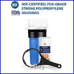 Big Blue 10 Whole House Water Filter System (1Port)+ Bracket+10x4.5 Sediment