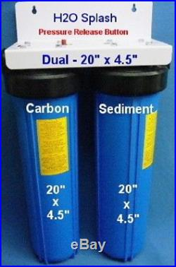 Big Blue 20 Dual Whole House Water Filter/Drinking/ RO