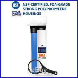 Big Blue 20 Whole House Water Filter System (1Port)+ Bracket+20x4.5 Sediment