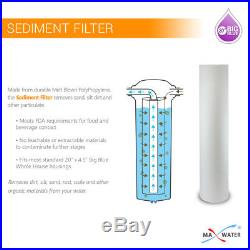 Big Blue 20x4.5 Whole House Water Filter 2 stage 3/4 Ports Single O ring