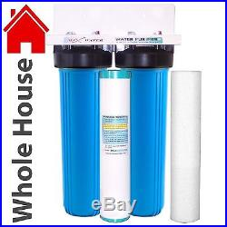 Big Blue 20x4.5 Whole House Water Filter 2 stage System 1 Ports