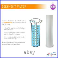 Big Blue 20x4.5 Whole House Water Filter 2 stage System Double O Ring 1