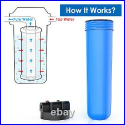 Big Blue 3 Stage Whole House System Water Filter 20 Sediment and Carbon NSF