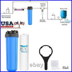 Big Blue 4.5x20 Whole House Well Water Filter Housing NSF with Sediment cartridge