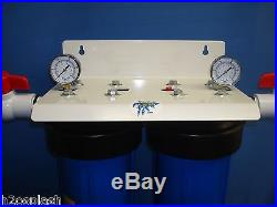 Big Blue Dual 20 Whole House Water Filter/1 Inch Ports