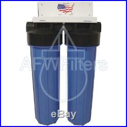 Big Blue Whole House Water Filter 2 Canister Sediment Carbon