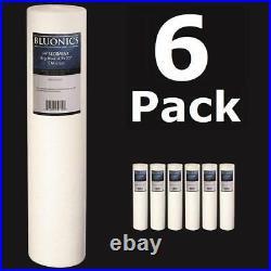 Bluonics 6-PK 20 x 4.5 (5 Micron) Sediment Whole House Water Filters Iron Rust