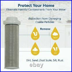 Commercial Grade Under Sink Water Filter System 20 x 4.5 Cartridges + Sediment