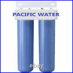DUAL BIG BLUE WATER FILTERS HOUSING/Canister For 4.5 X 20 Filter with 1NPT