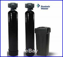 Dual Whole House Catalytic Carbon & Softener System Fleck 5600 SXT Digital 2.0