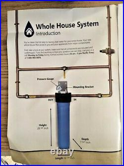 Express Water Whole House 1 Stage Home Water Filtration Filter System with Gauge