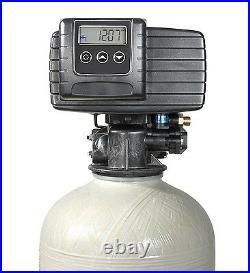 Fleck 5600SXT Metered Water Softener, Iron Buster Fine Mesh Resin 64K-Brine Tank