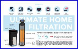 Fleck 5600 Whole House Water Softener + KDF 55 MediaGuard- City Water 2 Cubic Ft
