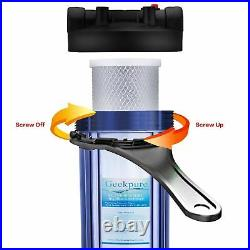 Geekpure 4 PK Big Blue Whole House Carbon Block Water Filter 20 x 4.5 5 Mic