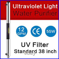 Geekpure Ultraviolet Light Water Purifier Whole House UV 55w 12GPM 1-inch Inlet
