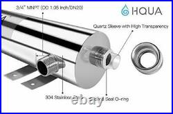 HQUA-TWS-12 Ultraviolet Water Purifier Sterilizer Filter for Whole House Water P