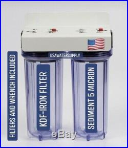 High Flow 2 Stage Water Filter System IRON Removal Portable 3/4 Whole House RV