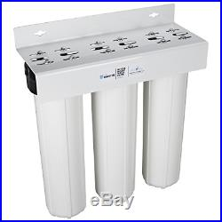 Home Master HMF3SDGFEC Whole House 3-Stage Water Filter with Fine Sediment, and