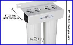 Home Master Whole House Water Filter 2 Stage Fine Sediment & Carbon Filter