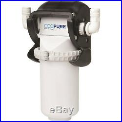 Home Water Filtration System EcoPure No Mess Filter Change Whole House Clean