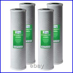 ISPRING Whole House Water Filter CTO Carbon Block 4.5 in. X 20 in. (4-Pack)