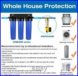 ISpring 3-Stage WGB32BM Whole House Water System Iron, Manganese Reduction
