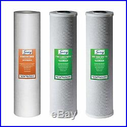 ISpring F3WGB32B 3-Stage 20 inch 3-Piece Big Blue Whole House Replacement Filter