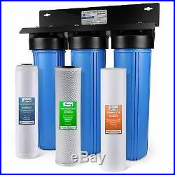 ISpring Iron & Lead Reducing Whole House Water Filter Big blue 3 stage system with