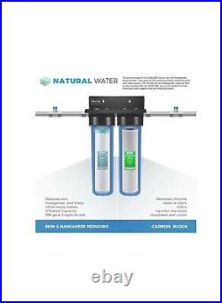 ISpring Iron/Manganese Removal Whole House Water Filter Big blue 2 stage system